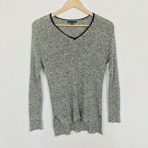 Eileen Fisher Sweater Crochet V Neck Sz: S